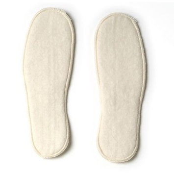 Soft Organic Merino Wool Insoles, Natural White, size 35