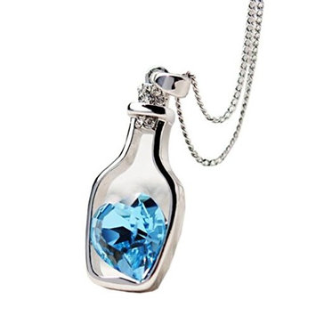 Vovotrade Women Fashion Popular Crystal Necklace Love Drift Bottles