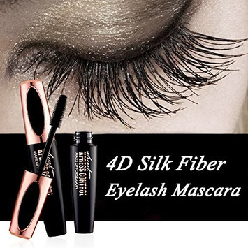 4D Silk Fiber Eyelash Mascara -Waterproof Long Lasting Eyelash Extension Warm Water Washable 4D Eyelash Mascara Eyelash Makeup