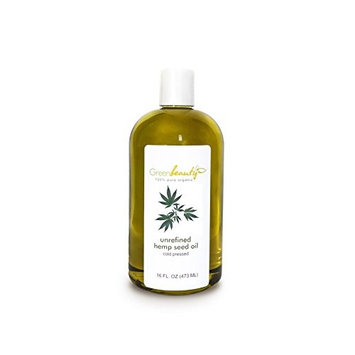 HEMP SEED OIL UNREFINED VIRGIN ORGANIC CARRIER COLD PRESSED RAW 100% PURE 16 OZ
