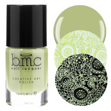 Bundle Monster BMC 1pc Tropix Collection: Soft Sage - Light Green Creamy Highly-Pigmented Creative Nail Art Stamping Polish