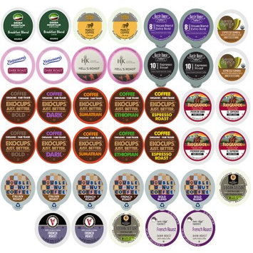 Perfect Samplers 40-count Bold and Dark Roast Coffee Single Serve Cups For Keurig K Cup Brewers Variety Pack Sampler (Bold Sampler)