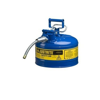 Justrite AccuFlow 7225320 Type II Galvanized Steel Safety Can with 5/8