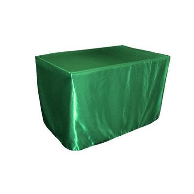 LA Linen TCbridal-fit-48x30x30-GreenKellyB32 Fitted Bridal Satin Tablecloth Green Kelly - 48 x 30 x 30 in.