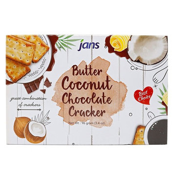 Jans Butter Coconut Chocolate Cracker 3.4 Oz / 96 Gr