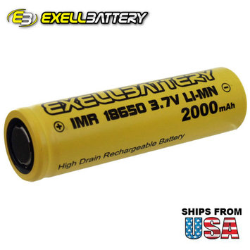 6pc IMR 18650 3.7V Li-Ion 2000mAh Rechargeable Battery Mod Vape Flashlights