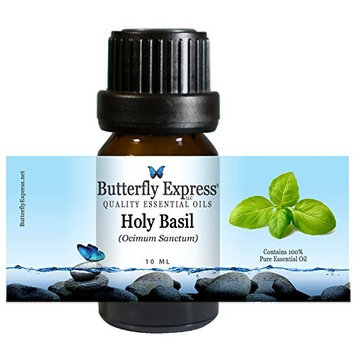 Holy Basil Essential Oil 10ml - 100% Pure - by Butterfly Express