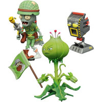 DIAMOND SELECT TOYS LLC Plants vs. Zombies Garden Warfare 2 Select Weedpart vs. Soldier Zombie Action Figure