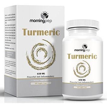 TURMERIC CURCUMIN 650 mg Anti Inflammatory Pain Relief Supplement 60 Vegi Caps By Morning Pep with Bioperine Added