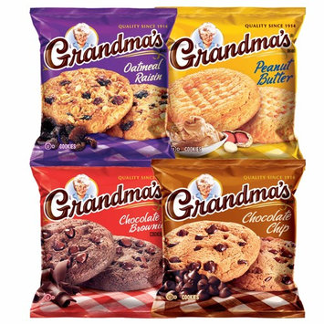 Grandma's Cookies Variety Pack Includes Chocolate Brownie, Chocolate Chip, Oatmeal Raisin & Peanut Butter