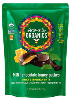 Heavenly Organics Honey Pattie™ Chocolate Mint - 12 Patties pack of 4