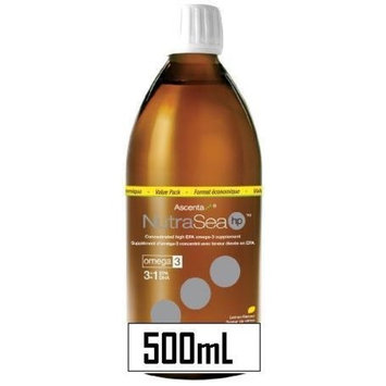 Nutra Sea Fish Oil HP -HIGH POTENCY 3:1 EPA to DHA -Lemon Flavour (500mL=16.6oz) NutraSea Herring oil by Ascenta Brand: Ascenta