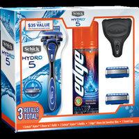 Schick Hydro 5 Men's Razor, Razor Blade Refill and Edge Shave Gel Gift Set - 1 Schick Hydro 5 Men's Razor, 3 Schick Hydro 5 Men's Razor Blade Refills and 1 Edge Men's Shave Gel Sensitive Skin 7oz