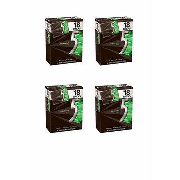 5 Gum Spearmint Rain Sugarfree Gum, Bulk 18 packs (4-(Pack))
