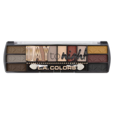 LA Colors Day To Night Eyeshadow Palette, Sundown, 12 Ct