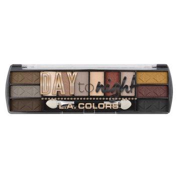 LA Colors Day To Night Eyeshadow Palette, Sundown, 12 Ct