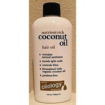 Oliology Coconut Oil Hair Oil, 4 Oz.