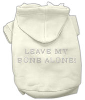 Mirage Pet Products 5442 LGCR Leave My Bone Alone Hoodies Cream L 14