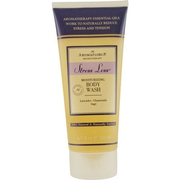 STRESS LESS by Aromafloria BODY WASH 6.7 OZ BLEND OF LAVENDER, CHAMOMILE, AND SAGE for UNISEX ---(Package Of 5)