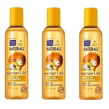 [VALUE PACK OF 3] DARK AND LOVELY AU NAT MOIST LOC SOAK IT UP OIL COCKTAIL 4oz: Beauty