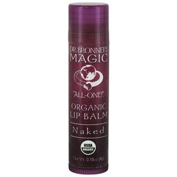 Dr. Bronner - Organic Naked Lip Balm, .15 oz lip balm