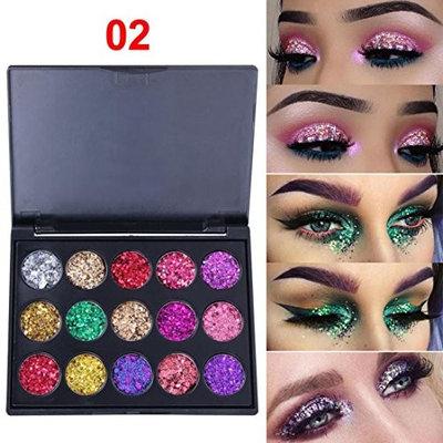 Eyeshadow Powder 🌸DEESEE(TM)🌸15 Colors CmaaDu Shimmer Glitter Cosmetic Shadow Powder Palette Matte Eyeshadow Cosmetic Makeup