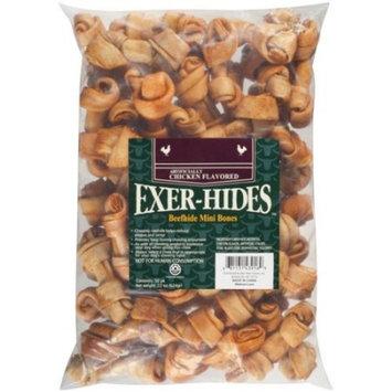Salix Exer-hides Chicken Flavored Beefhide Mini Bones, 50 count