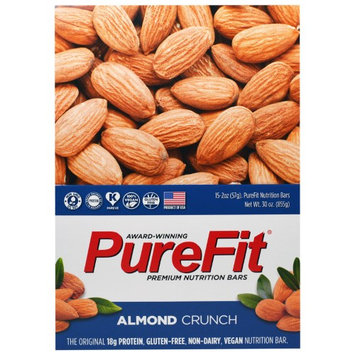 Pure Fit Bars, Premium Nutrition Bars, Almond Crunch, 15 Bars, 2 oz (57 g) Each(pack of 2)