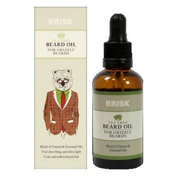 Brisk Tea Tree Beard Oil, 1.7oz Each (Pack of 2)