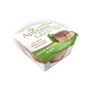 Applaws Cat Layers Chicken with Lamb, 2.47 oz, Case of 12