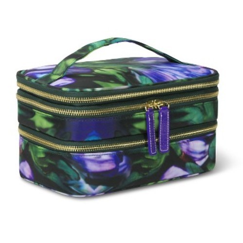 Sonia Kashuk® Cosmetic Bag Triple Train Case Purple Floral