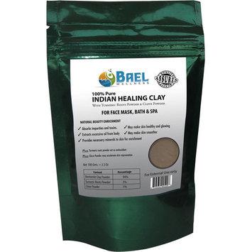 Bael Wellness Indian Healing Clay with Turmeric Roots Powder & Clove Powder, 3.4 oz