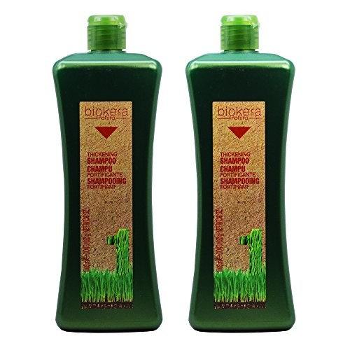 """Salerm Biokera Natura Thickening Shampoo 36oz / 1000mL """"Pack of 2"""""""