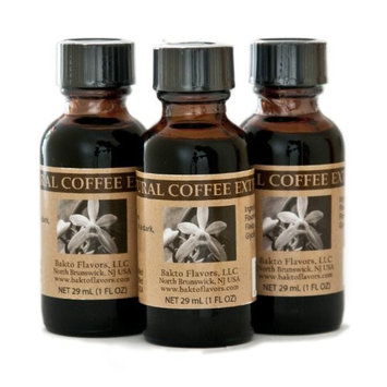 Bakto Flavors Natural Coffee Extract (1 FL OZ)Pack of 3