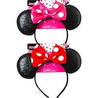 Minnie Bowtique Ear Shaped Headband, 2pk
