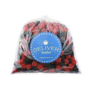 Deliver Kosher Bulk Candy - Blue Raspberry Sandwich Chips - 3lb Bag [Blue Raspberry Sandwich Chips]