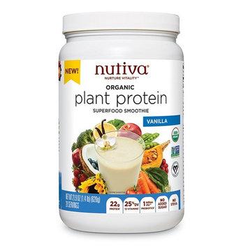 Nutiva Plant Protein Superfood for Shakes and Smoothies, Vanilla, 1.4 Pound [Vanilla]