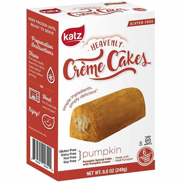 Katz Gluten Free Pumpkin Spice Crème Cakes   Dairy, Nut, Soy and Gluten Free   Kosher (1 Pack of 6 Crème Cakes, 8.8 Ounce)