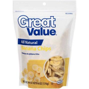 Great Value: Banana Chips, 6 oz
