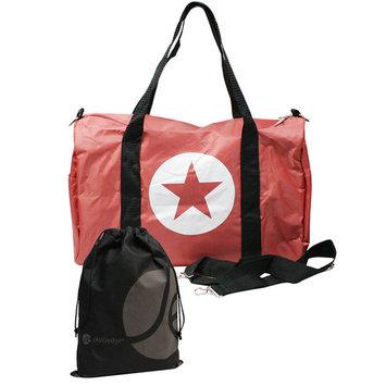 Star Travel Duffel Gym, Travel Bag with Shoulder Strap, with Bonus Reusable Drawstring Storage Bag
