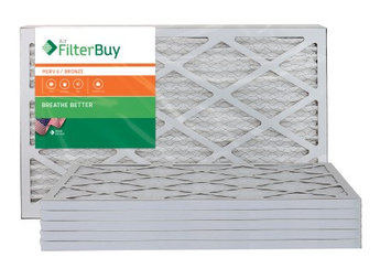 AFB Bronze MERV 6 17x25x1 Pleated AC Furnace Air Filter. Filters. 100% produced in the USA. (Pack of 6)