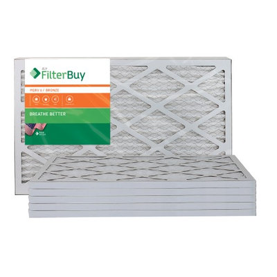 AFB Bronze MERV 6 13x20x1 Pleated AC Furnace Air Filter. Filters. 100% produced in the USA. (Pack of 6)