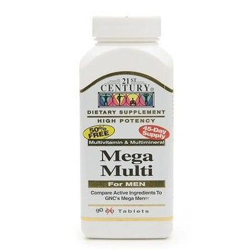 21st Century Mega Multi for Men, Multivitamin & Multimineral 90 tablets(pack of 2)