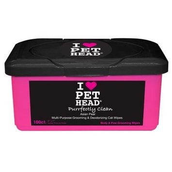 I HEART PET HEAD Purrfectly Clean Multi-Purpose Grooming & Deodorizing Wipe - Asian Pear - 100 Count
