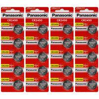 Panasonic CR2450 3 Volt Lihium Coin Cell Battery - 20 Batteries