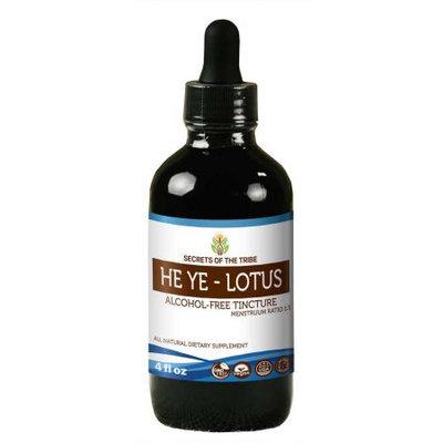 Nevada Pharm He Ye - Lotus Tincture Alcohol-FREE Extract, Organic (Nelumbo Nucifera) Dried Leaf 4 oz