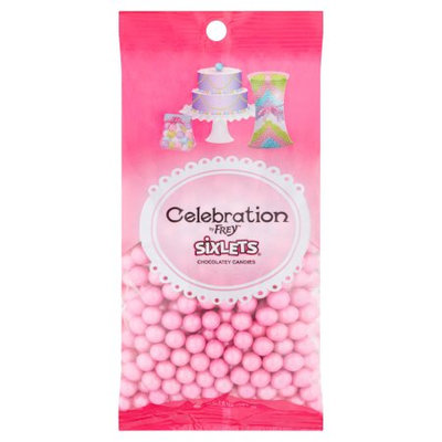 Shimmer Pink Sixlets Candy - Pink for Christmas