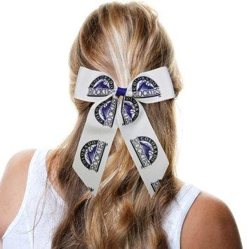 Colorado Rockies Women's Cheer Ponytail Hair Bow - No Size