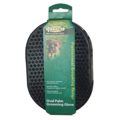 Enrych 6849 Rubberized Pet Grooming Glove, Green