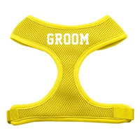 Mirage Pet Products 7035 SMYW Groom Screen Print Soft Mesh Harness Yellow Small
